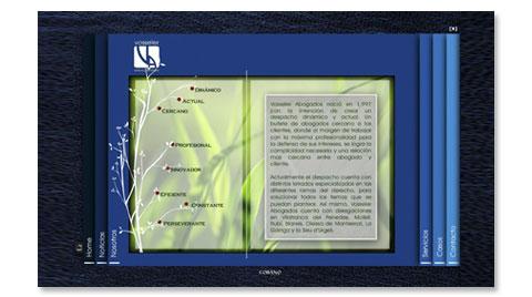 Desarrollo de la página web corporativa VOSSELER ABOGADOS