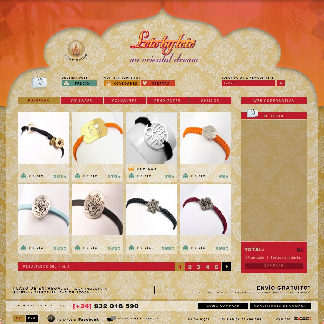 Desarrollo de la tienda online LOTO BY LOTO