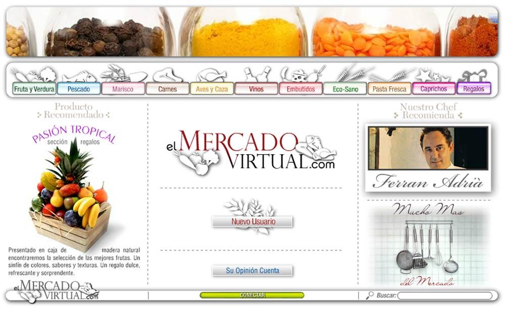 Desarrollo de la tienda online EL MERCADO VIRTUAL