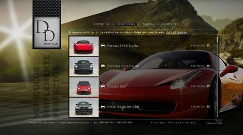 Desarrollo de la página web comercial DDSPORT CAR