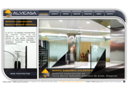 Development of corporate website ALVICASA