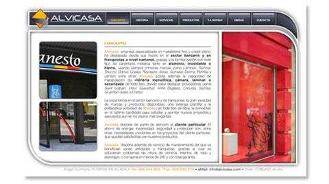 Desarrollo de la página web corporativa ALVICASA