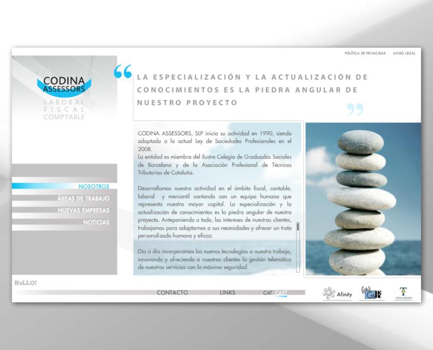 Desarrollo de la página web corporativa CODINA ASSESSORS