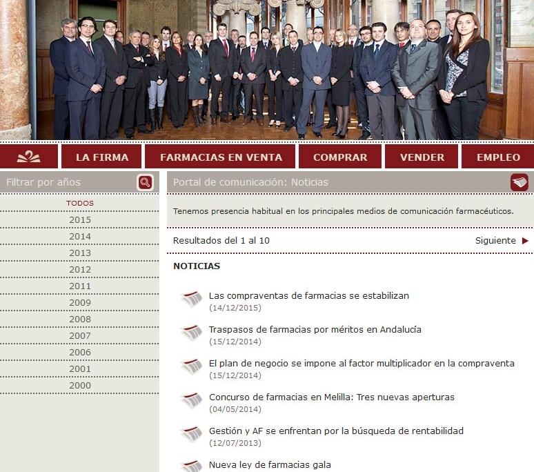 Desarrollo del portal corporativo GABINETE LÓPEZ-SANTIAGO