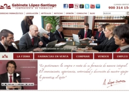 Development of the corporate portal GABINETE LÓPEZ-SANTIAGO