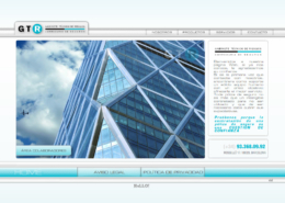 Development of corporate website GABINETE TÉCNICO DE RIESGOS