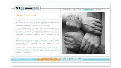 Desarrollo de la página web corporativa GABINETE TÉCNICO DE RIESGOS