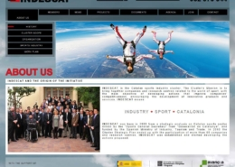 Development of corporate website INDESCAT: CATALAN SPORTS CLUSTER