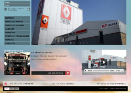 Development of corporate website MT TRUCKS