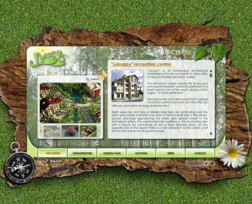Desarrollo de la página web corporativa de residencial LYUBOGAY