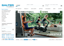 Development of corporate website SALTER FITNESS