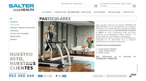 Desarrollo de la página web corporativa SALTER FITNESS
