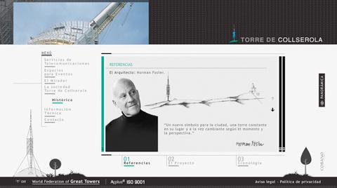 Desarrollo de la página web corporativa TORRE DE COLLSEROLA