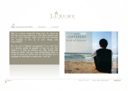 Development of corporate website LUXURY SERVEIS