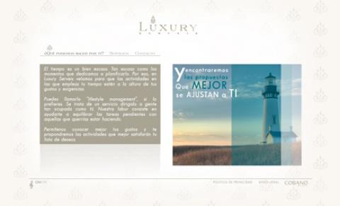 Desarrollo de la página web corporativa LUXURY SERVEIS