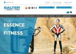 Development of the corporate website with online store SALTER FITNESS
