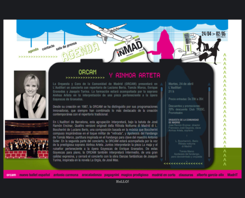 "Development of the website for the cultural events ""MADE IN MAD"""
