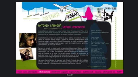 """Desarrollo de la página web para los eventos culturales """"MADE IN MAD"""""""