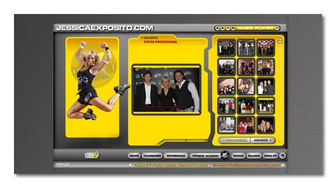 Desarrollo de la página web personal de la estrella de fitness JÉSSICA EXPÓSITO