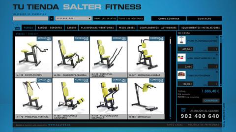 Desarrollo de la tienda online SALTER FITNESS