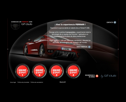 Development of e-commerce website DRIVE A FERRARI WITH GT-CLUB