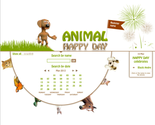 Development of the commercial online application ANIMAL HAPPY DAY